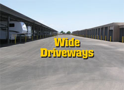 Wide access driveways